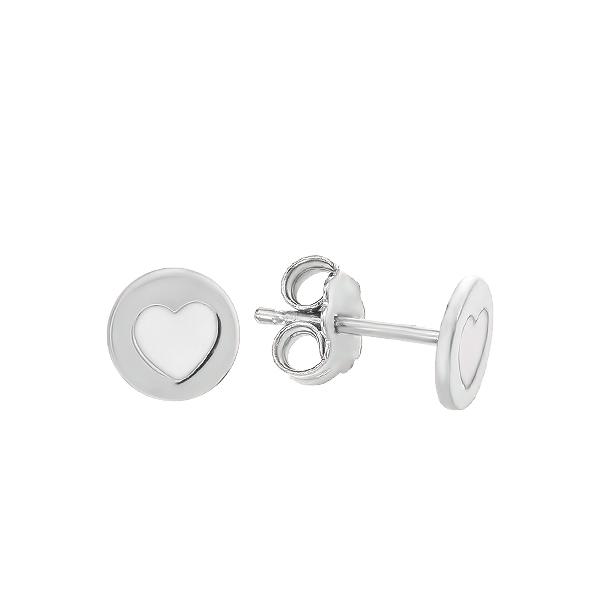 Сережки-пусети (гвоздики) срібні фантазія з емаллю (D5026OR1122 R12)