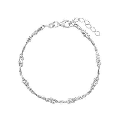 Браслет срібний фантазія без каменів (D5033BK1138 R)