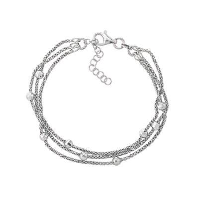 Браслет срібний фантазія без каменів (D5035BK1474 R)
