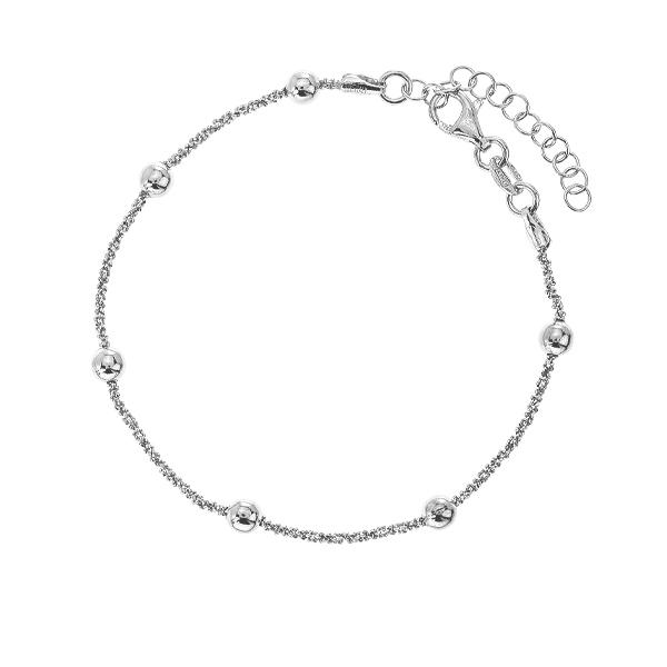 Браслет срібний фантазія без каменів (D5035BK1577 R)