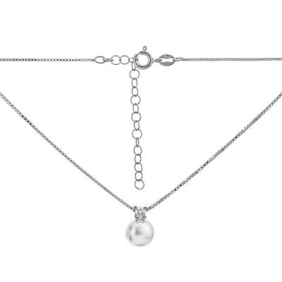 Кольє срібне з намистиною (D5043HK0019 R12)