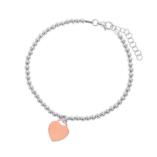 Браслет срібний Серце без каменів (D504BK0483 RE)