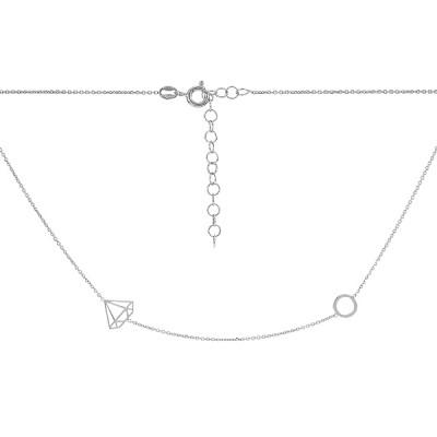 Кольє срібне Фантазія без каменів (D5051HK0068 R)