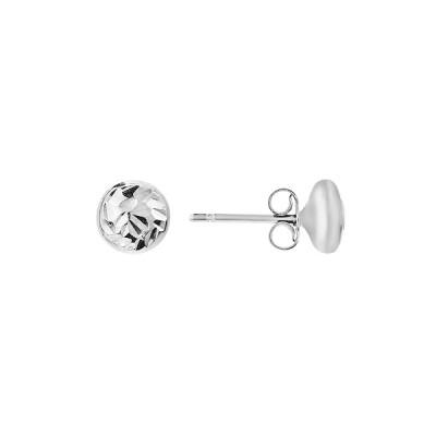 Сережки-пусети (гвоздики) срібні фантазія без каменів (D5051OR0102 RM)