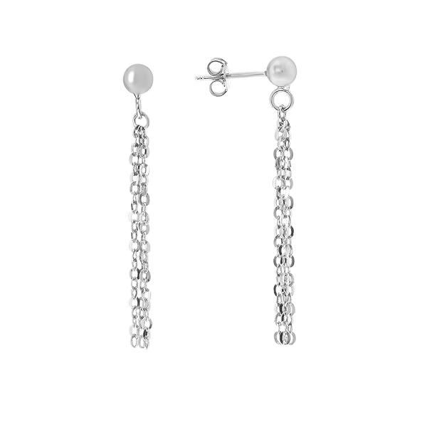 Сережки-пусети (гвоздики) срібні фантазія без каменів (D5054OR0007 R)