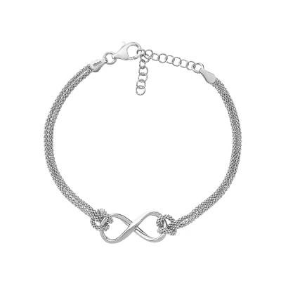 Браслет срібний Безмежність без каменів (D5078BK1086 R)