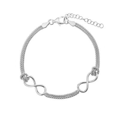 Браслет срібний Безмежність без каменів (D5078BK1088 R)