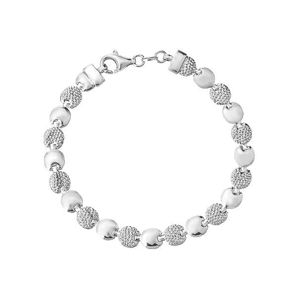 Браслет срібний фантазія без каменів (D5086BK0842 R)