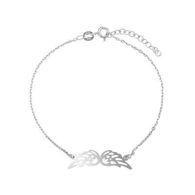 Браслет срібний Крила без каменів (D5136BK0001 R)