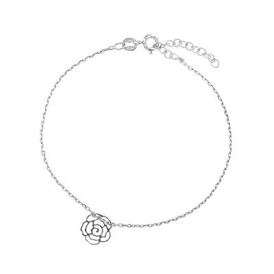 Браслет срібний Квітка без каменів (D5136BK0006 R)