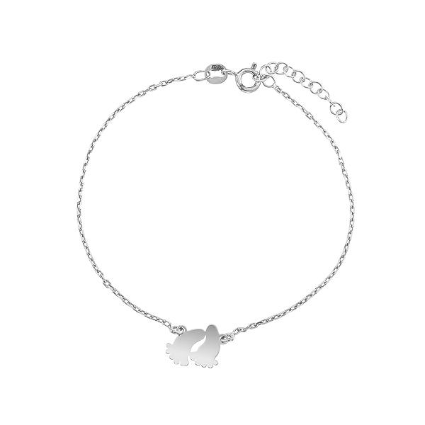 Браслет срібний Ніжки без каменів (D5136BK0007 R)