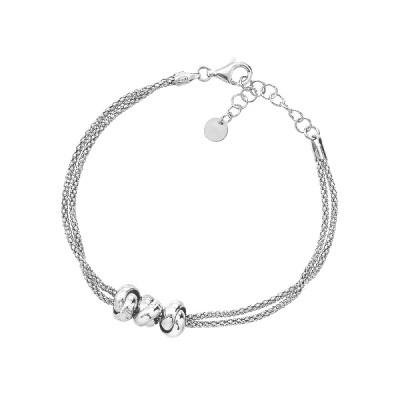 Браслет срібний фантазія без каменів (D5138BK0017 R)