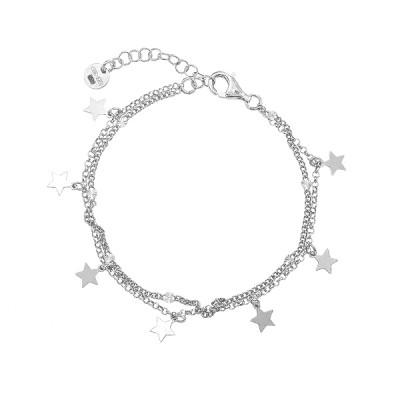 Браслет срібний Зірка без каменів (D5138BK0021 R)