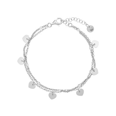 Браслет срібний Серце без каменів (D5138BK0022 R)