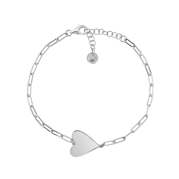 Браслет срібний Серце без каменів (D5138BK0024 R)
