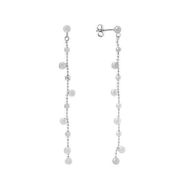 Сережки-пусети (гвоздики) срібні фантазія без каменів (D5138OR0003 R)