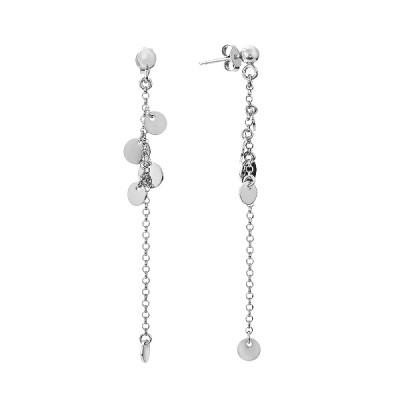 Сережки-пусети (гвоздики) срібні фантазія без каменів (D5138OR0031 R)