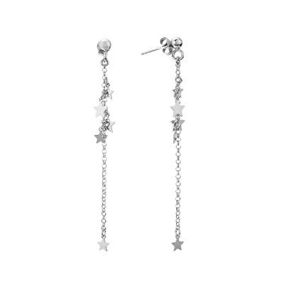Сережки-пусети (гвоздики) Зірки без каменів (D5138OR0032 R)