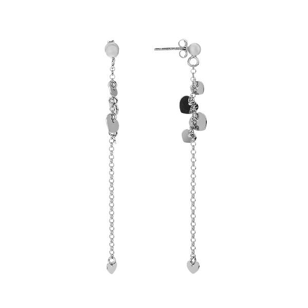 Сережки-пусети (гвоздики) срібні фантазія без каменів (D5138OR0033 R)