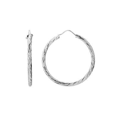 Сережки-кільця (конго) срібні без каменів (D517OR0202 R)
