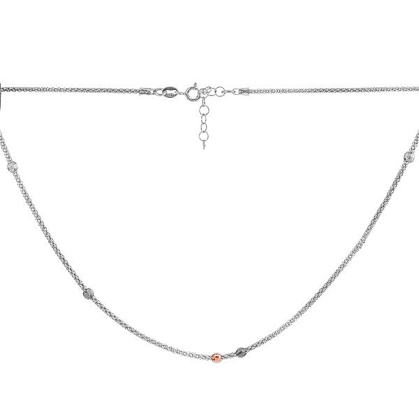 Кольє срібне Фантазія без каменів (D521HK2211 RE)