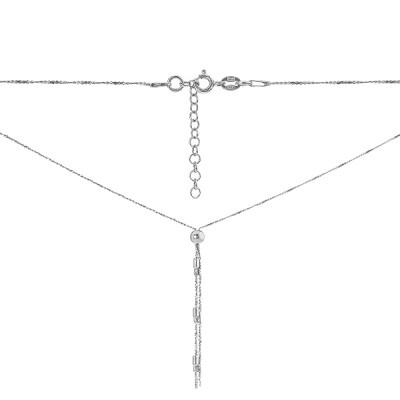 Кольє срібне Фантазія без каменів (D528HK1220 R)