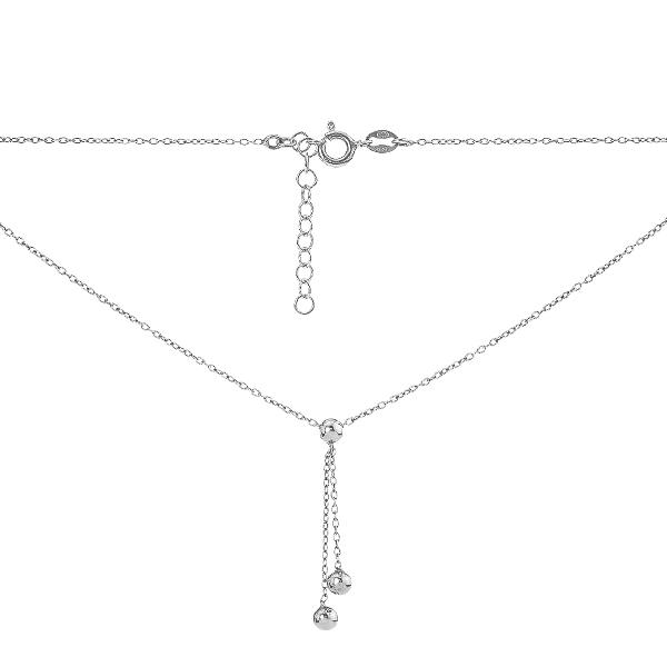 Кольє срібне Фантазія без каменів (D528HK1240 R)