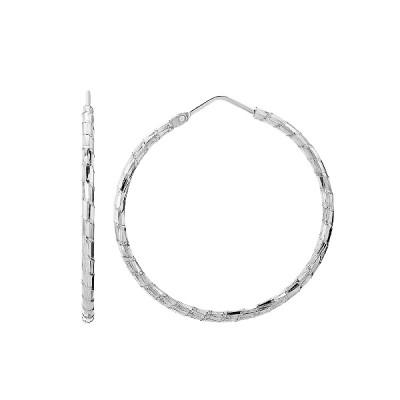 Сережки-кільця (конго) срібні без каменів (D809OR0136 R)