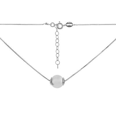 Кольє срібне з намистиною (D851HK0003 R12)