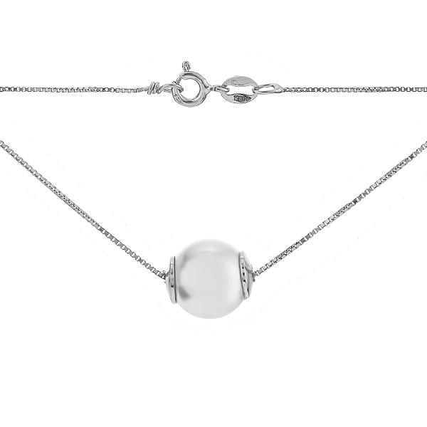 Кольє срібне з намистиною (D851HK0004 R12)