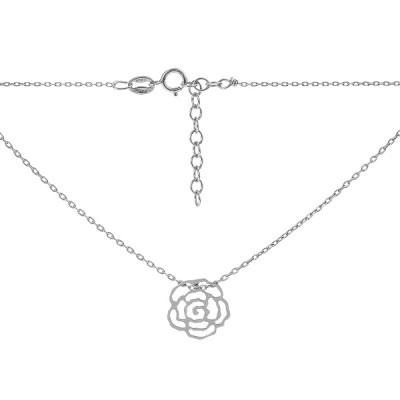 Кольє срібне Квітка без каменів (D870HK0304 R)