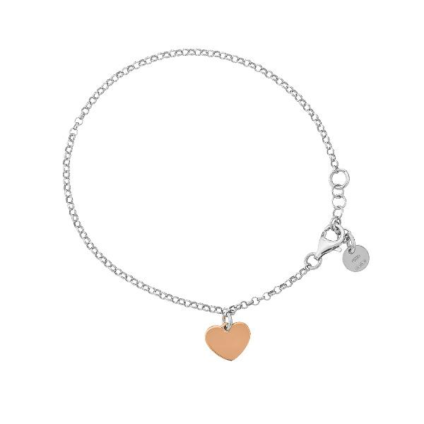 Браслет срібний Серце без каменів (D8888BK0018 RE)