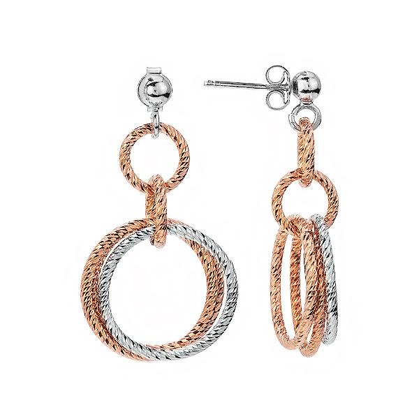 Сережки-пусети срібні фантазія без каменів (D8888OR0018 RE)