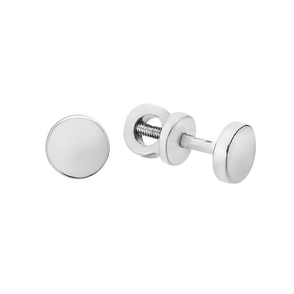 Сережки-пусети срібні геометрія без каменів (E00029)