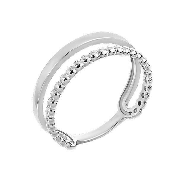 Каблучка срібна фантазія без каменів (КБ385)
