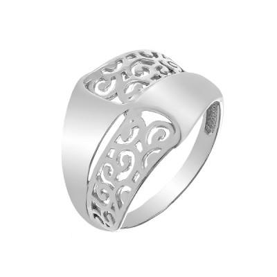 Каблучка срібна фантазія без каменів   (КБ389)