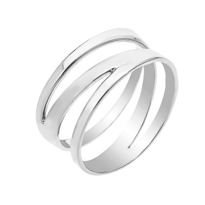 Каблучка срібна без каменів (КБ402)