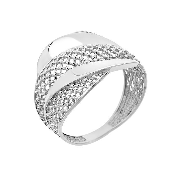 Каблучка срібна фантазія без каменів (КБ404)