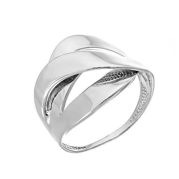 Каблучка срібна фантазія без каменів (КБ405)
