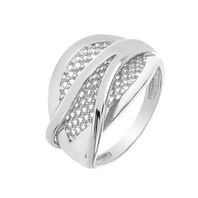 Каблучка срібна фантазія без каменів   (КБ412)