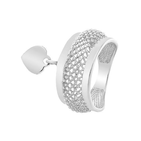 Каблучка срібна фантазія без каменів (КБ427)