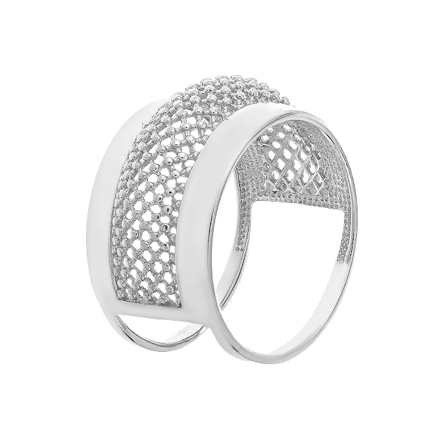 Каблучка срібна фантазія без каменів (КБ429)