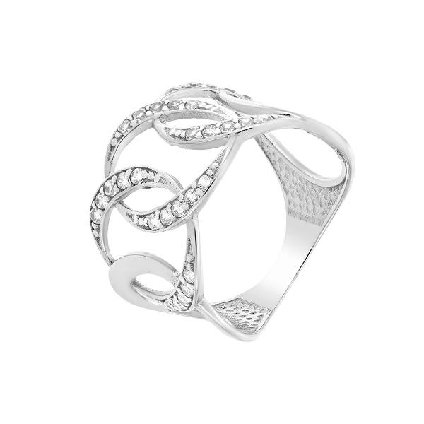 Каблучка срібна фантазія з розсипом (КВ2259)