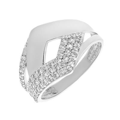 Каблучка срібна фантазія з розсипом (КВ2324)