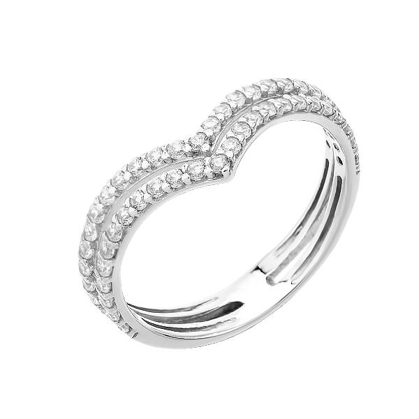 Каблучка срібна фантазія з розсипом (КВ2360)