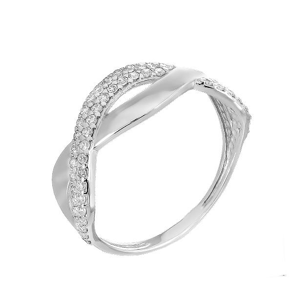 Каблучка срібна фантазія з розсипом (КВ2378)