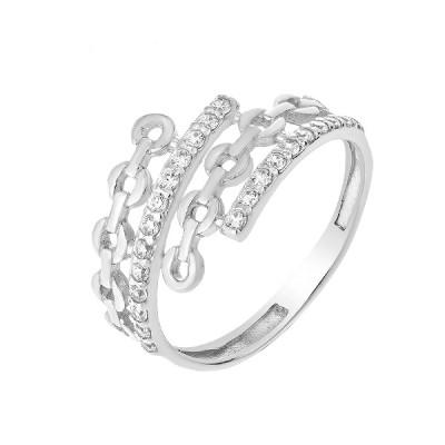 Каблучка срібна фантазія з розсипом (КВ2395)