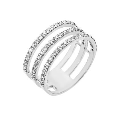 Каблучка срібна фантазія з розсипом (КВ2425)