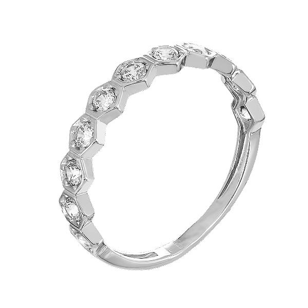 Каблучка срібна фантазія з розсипом (КВ2516)
