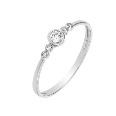 Кольцо серебряное с фианитами (КВ2558)